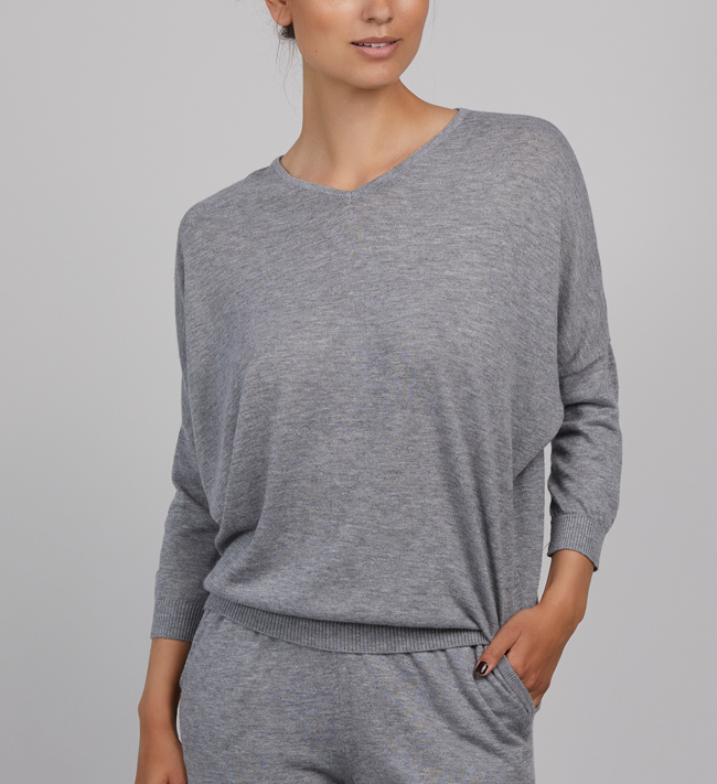 Intimate by Change Emma Sweatshirt other Light Grey Melange